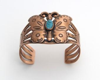 Butterfly Cuff | Bell Trading Post | Copper Cuff | Southwestern Jewelry | Butterfly Bracelet | Copper Butterfly | Boho Chic Jewelry
