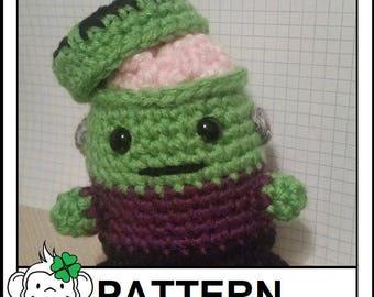 Frankenstein Amigurumi Pattern, Frankenstein's Monster Plushie, Crochet Stuffed Halloween Pattern