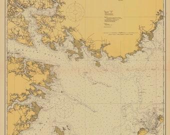 Pamlico Sound Map 1915