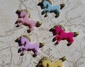 Unicorn Kawaii, Resin Unicorn, Unicorn Cabochons, Decoden Unicorn, Unicorn Flatbacks,
