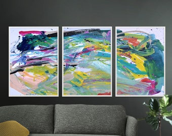 Abstract Art Print Set, Set of 3 Prints, digital downloads, Printable Abstract, instant download, A1 print, Art set of 3, Abstract Painting