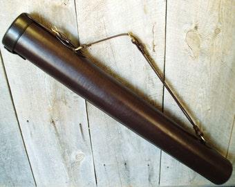 Document case etsy handmade leather blueprintdrawingartworkdocument case malvernweather Images