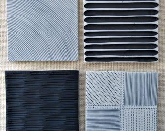 Textured Organic #1 Ceramic Coasters
