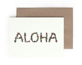 Aloha Greeting Card / Made in Hawaii