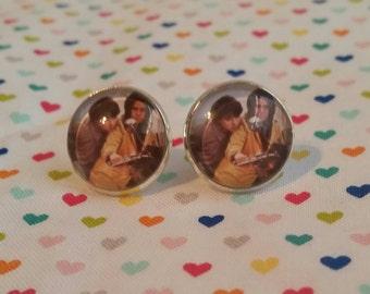 Harold and Maude inspired  large post earrings stocking stuffer under 10 dollars