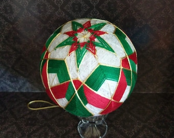 Japanese Temari Ball, decorative ball, Christmas ornament