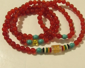 Natural Red Gemstone Necklace