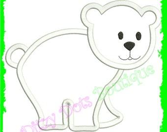 Polar Bear, Christmas bear , Machine Embroidery design
