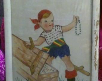 Creepy Pirate Boy Painting