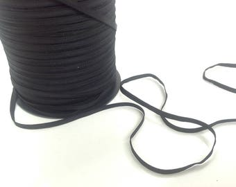 Elastic, very soft, black, 4 mm wide exclusive PetitsplaisirsFrance special lingerie.