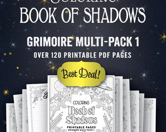 Grimoire Multi-Pack I: Printable Book of Shadows Pages PDF