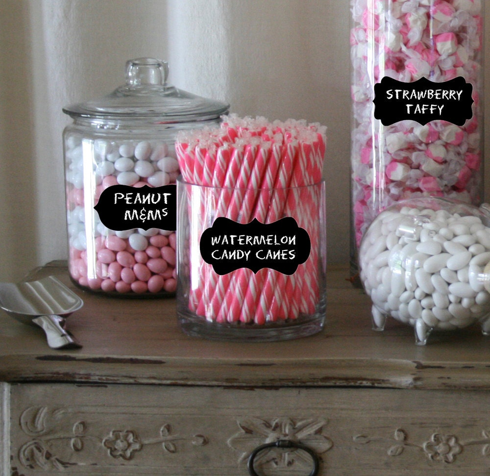 Candy Buffet Labels for Candy Jars Chalkboard Labels Medium