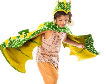 Green Dragon Costume for Kids, Kids Dress Up, Dungeons and Dragons, Game of Thrones, Birthday Gift for Kids, GOT, Harry Potter