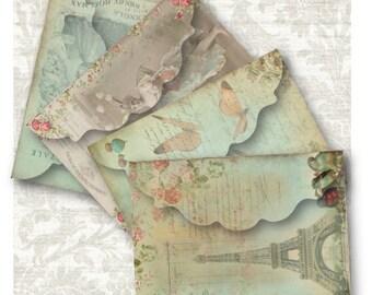 Antique Envelopes Digital Collage Sheet Download -705- Digital Paper - Instant Download Printables