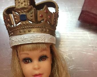 Doll Instrument,Doll Crown,Barbie Crown,Skipper Hat,Francie Hat,Barbie Music,Barbie Instrument,Skipper Accessory,Francie Accessory,Doll Horn