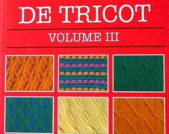 """KNITTING BOOK// FRENCH*//""""Knitting Stitches in French Language. (Les Dictionnaire Harmony des Points de Tricot"""" Volume 3!!"""
