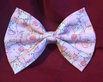Pink piggy bow