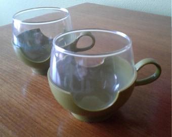 Vintage Pyrex Coffee Cups
