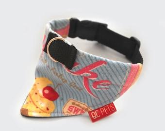 Cupcakes Bandana Collar Custom Made - by QC Pets