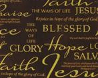 New Specialty  Cotton  Window Curtain Valance made from Faith Hope Jesus fabric