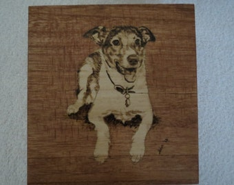 Pet Portrait Memorial Treasure Box Hand Painted Made to Order Jack Russel by Pigatopia