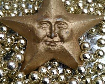 Vintage Christmas Smiling Star Design Tree Decoration BoutiqueByDanielle Interior Design