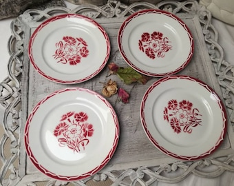 Service of 4 French vintage dishes Annecy Luneville France