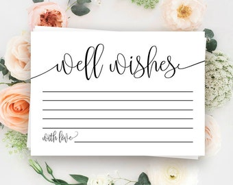 Wedding well wishes cards Printable Well wishes for baby Birthday well wishes cards Well wishes bridal shower Retirement well wishes #vm41