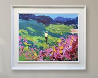 Augusta Golf Painting Golf Art  Original Canvas Art Golfer Painting Golf Wall Art Golf Wall Decor Art Gift for Golfer Golf Gift for Men