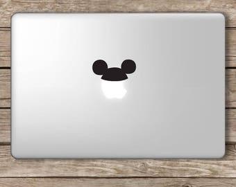 Mouse Hat Vinyl Decal Sticker Apple Laptop MacBook