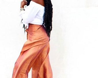 Silk Wrap Pants (Golden Orange)