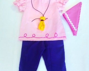 Izzy costume - Jake and the neverland pirates - Izzy Birthday Party - Pirate Costume - Hallowen Outfit - toddler costume - pirate girl