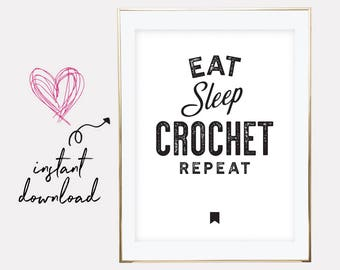 gift for crochet lover, crochet lover gift, crochet printable, crochet print, crochet poster, crochet, downloadable prints, printable art
