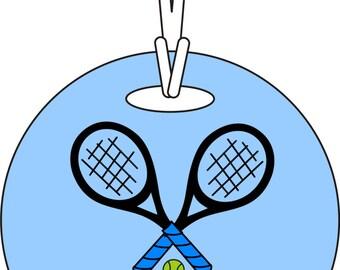 Personalized Custom Name Tennis Bag Tag