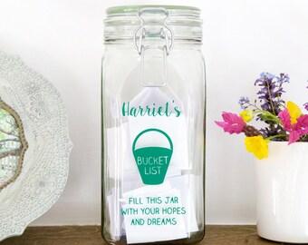 Personalised Bucket List Jar