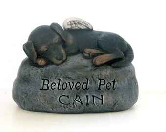 Ceramic Engraved/Customized Painted Dog Grave Marker - hand made, customized, indoor or outdoor