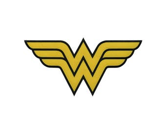 Wonder Woman Iron On Applique,  Extra Large Wonder Woman Patch, Genuine DC Comics Iron On Patch, Superhero Applique, Embroidered Patch, 6x12