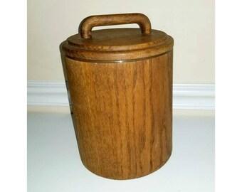 Vintage Wood Ice Bucket, Cornwall Ice Bucket, Insulated Ice Bucket, Danish Modern, Mad Men, Wooden Barware, Retro Barware, Retro Bar, 1970s