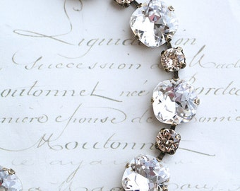 Cushion Cut Bracelet, Swarovski Crystal Bracelet, Bridal Bracelet, Crystal Bracelet, Champagne Bracelet, Swarovski Bracelet