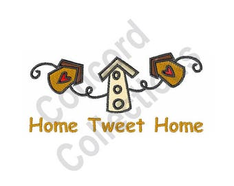 Birdhouses - Machine Embroidery Design, Home Tweet Home