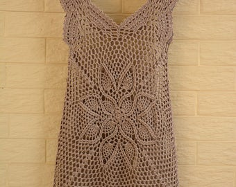 Crochet Dress Women Boho Bohemian Hippie Gypsy Handmade Clothing