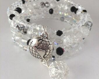 Spaceship Earth Bracelet, Epcot Bracelet, Disney Park Bracelet, Space Ship Earth, Disneyworld Bracelet, Epcot Jewelry, Spaceship Earth