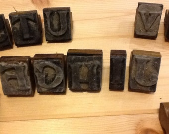 Printing blocks alphabet