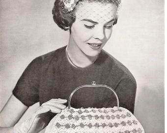 Vintage Crocheted Hat and Bag Pattern - SAN FRANCISCO