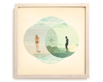 "Surfing Art Limited Edition Print ""Union"" - Mixed Media"