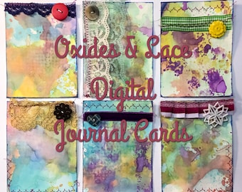 Oxides & Lace Digital Journal Cards