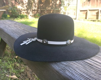 Suede and Concho Hatband