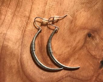 Half moon or half hoop earrings