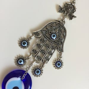 Traditional Protection HAMSA Hand Of Fatima With Evil Eye Wall Hanging  Amulet Home Decor Hand Shaped