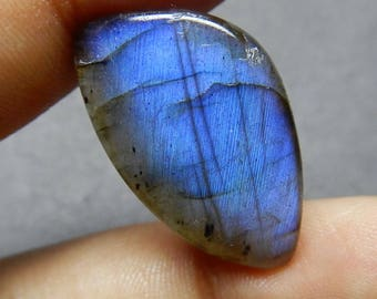 Amazing Quality Natural Labradorite Cabochon 25x15x5 MM Size AAA++ Quality Amazing Blue Flash 13.80 Carat Fancy Shape Smooth Polished HB5